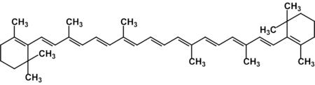 Структурная формула бета-каротина